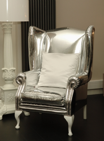 Viceroy wing chair Silver