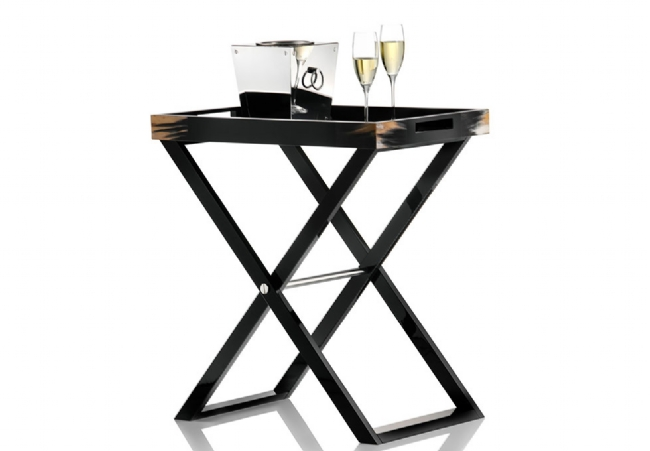 Butlerservingtable 70x46 cm H=77 cm black highgloss Arcahorn