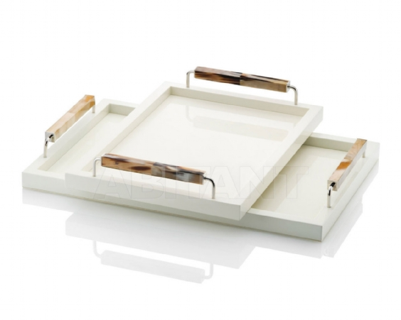 Arcahorn Tray Ivory highgloss 50x35 cm of 40x60 cm