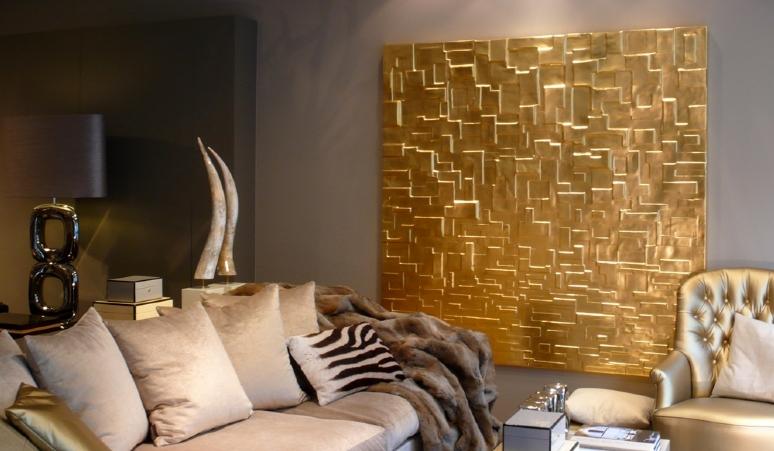 John breed gouden mondriaan 180x180 art collection for Woonaccessoires rotterdam