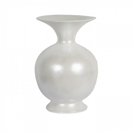 Vase Belly white pearl rond 34 cm -66h