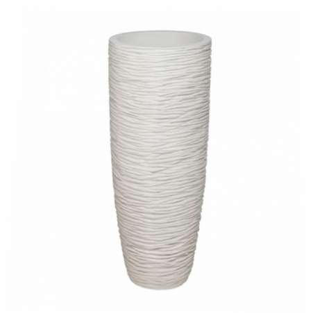 Vase Belly white pearl rond 45 cm -144h