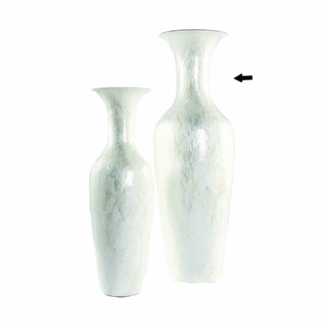 Vase Mother of pearl white rond 60cm - 170h